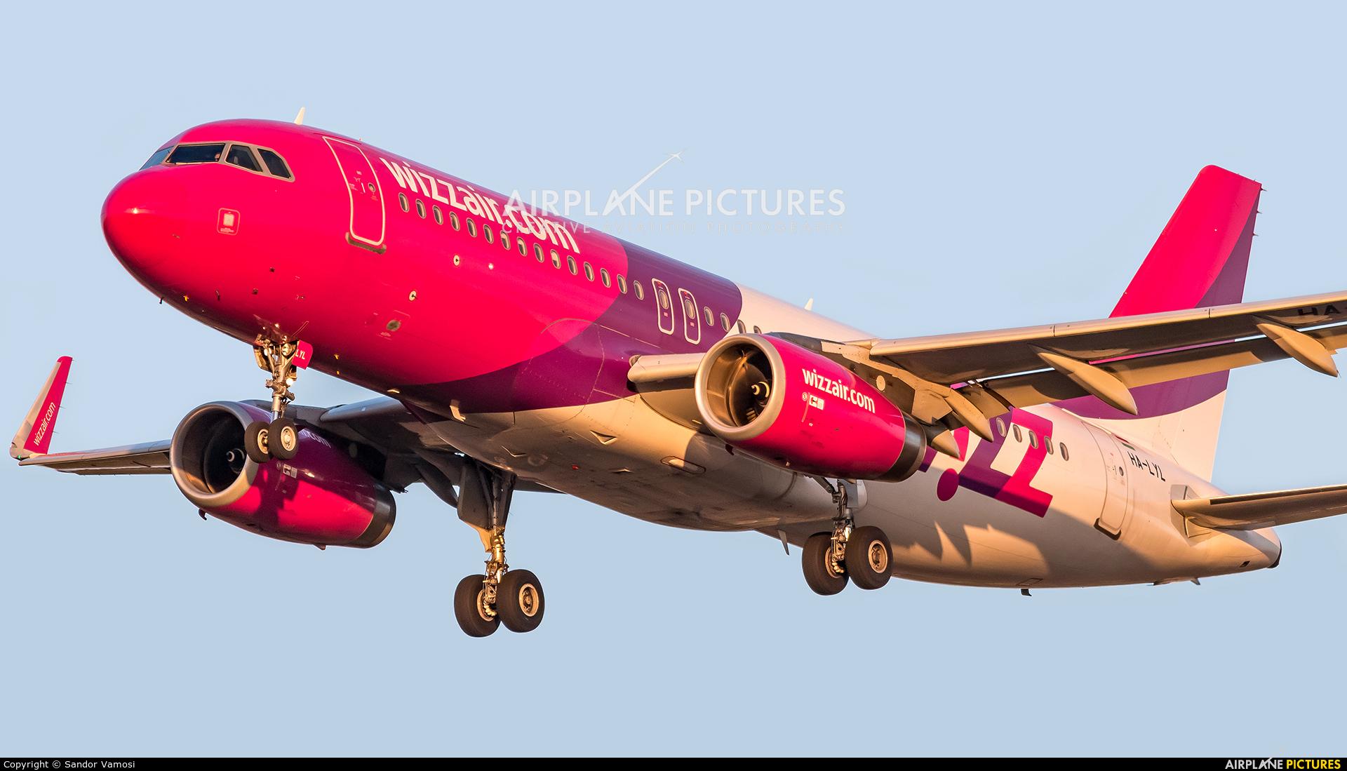Wizz Air HA-LYL aircraft at Budapest Ferenc Liszt International Airport