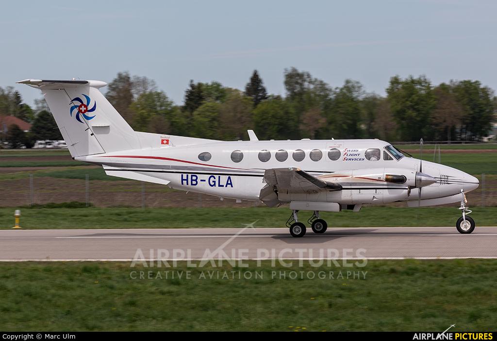Swiss Flight Services HB-GLA aircraft at Augsburg