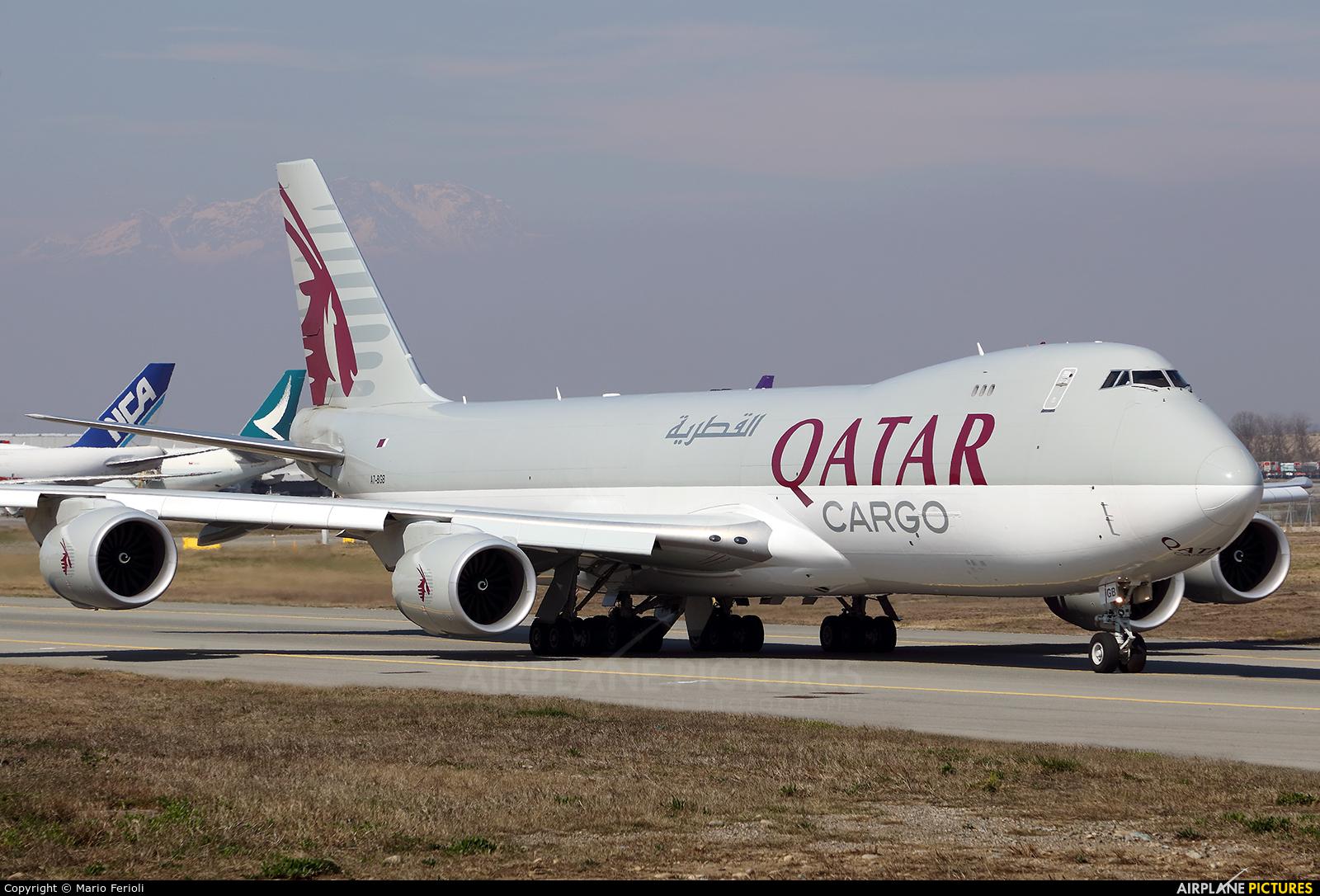 Qatar Airways Cargo A7-BGB aircraft at Milan - Malpensa