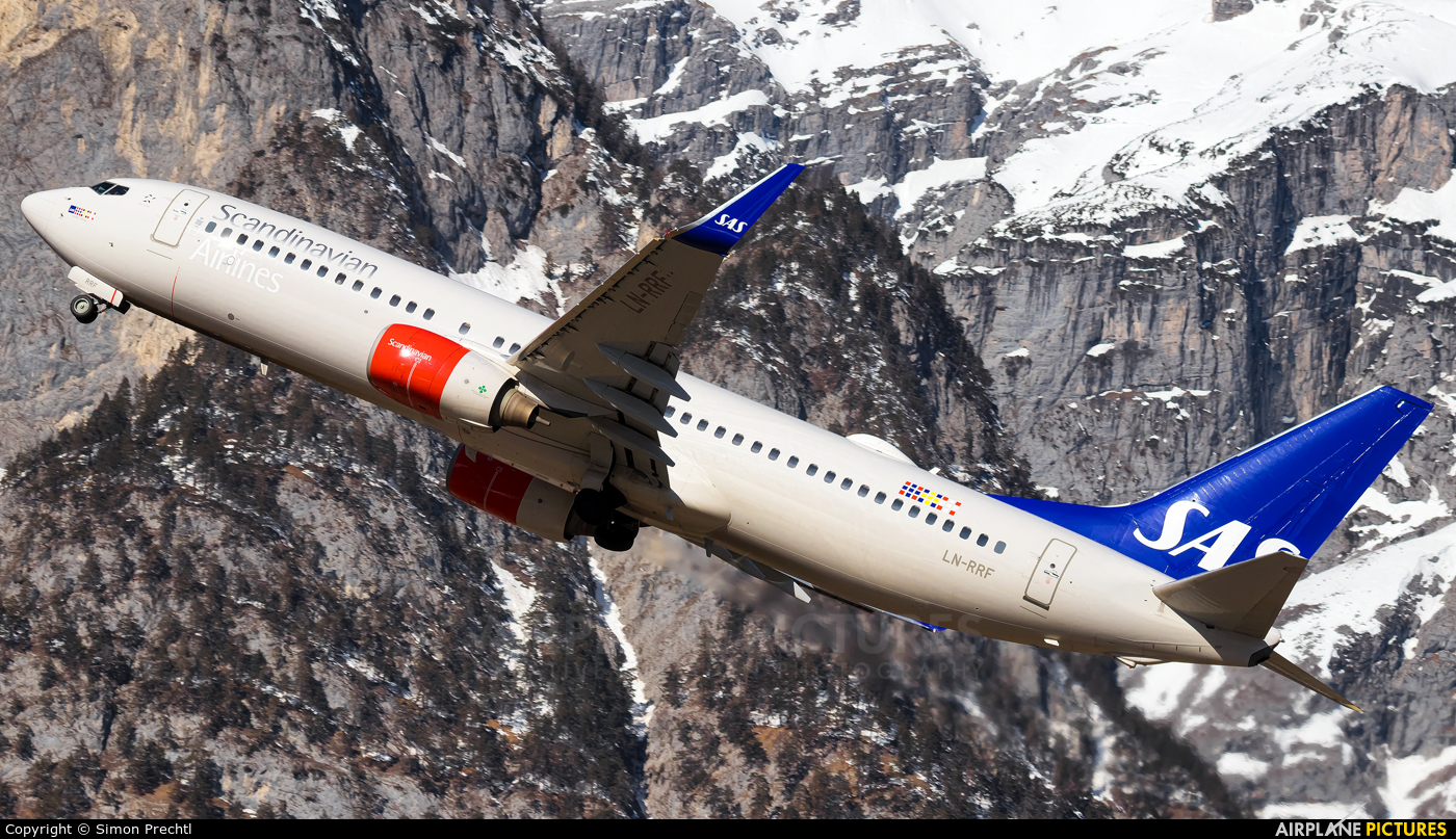 SAS - Scandinavian Airlines LN-RRF aircraft at Innsbruck