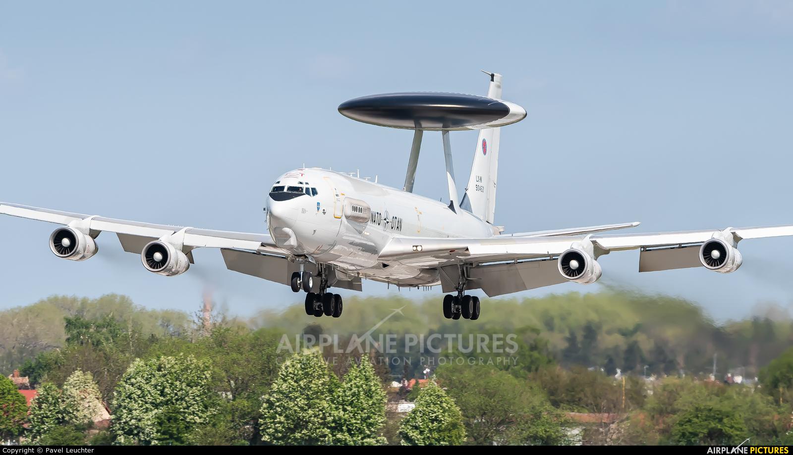 NATO LX-N90453 aircraft at Pardubice