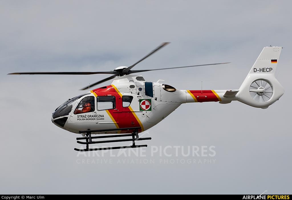 Polish Border Guard D-HECP aircraft at Augsburg