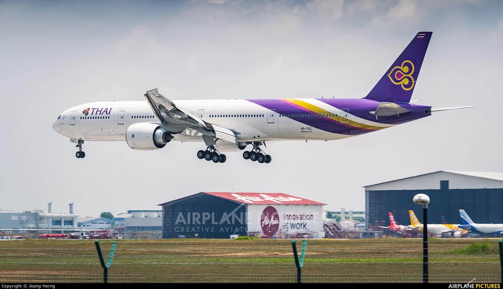 Thai Airways HS-TKZ aircraft at Kuala Lumpur Intl