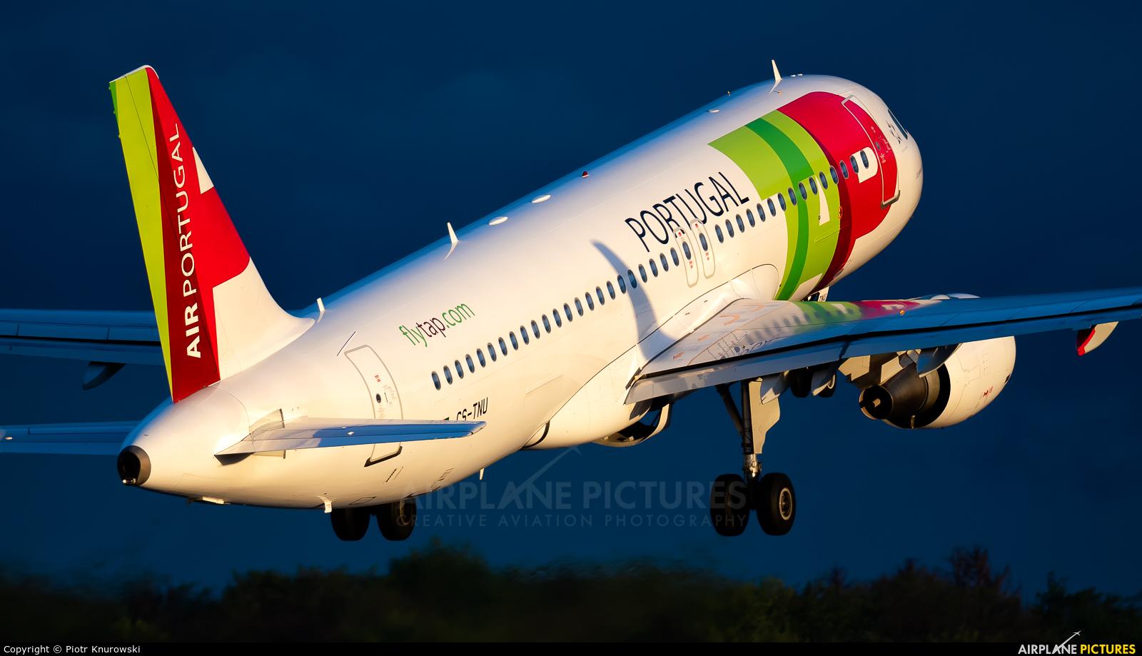 TAP Portugal CS-TNU aircraft at Frankfurt