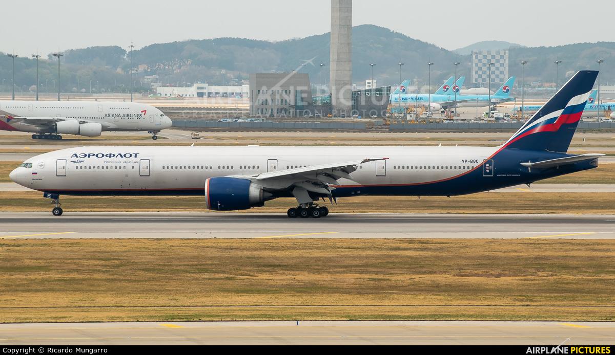 Aeroflot VP-BGC aircraft at Seoul - Incheon