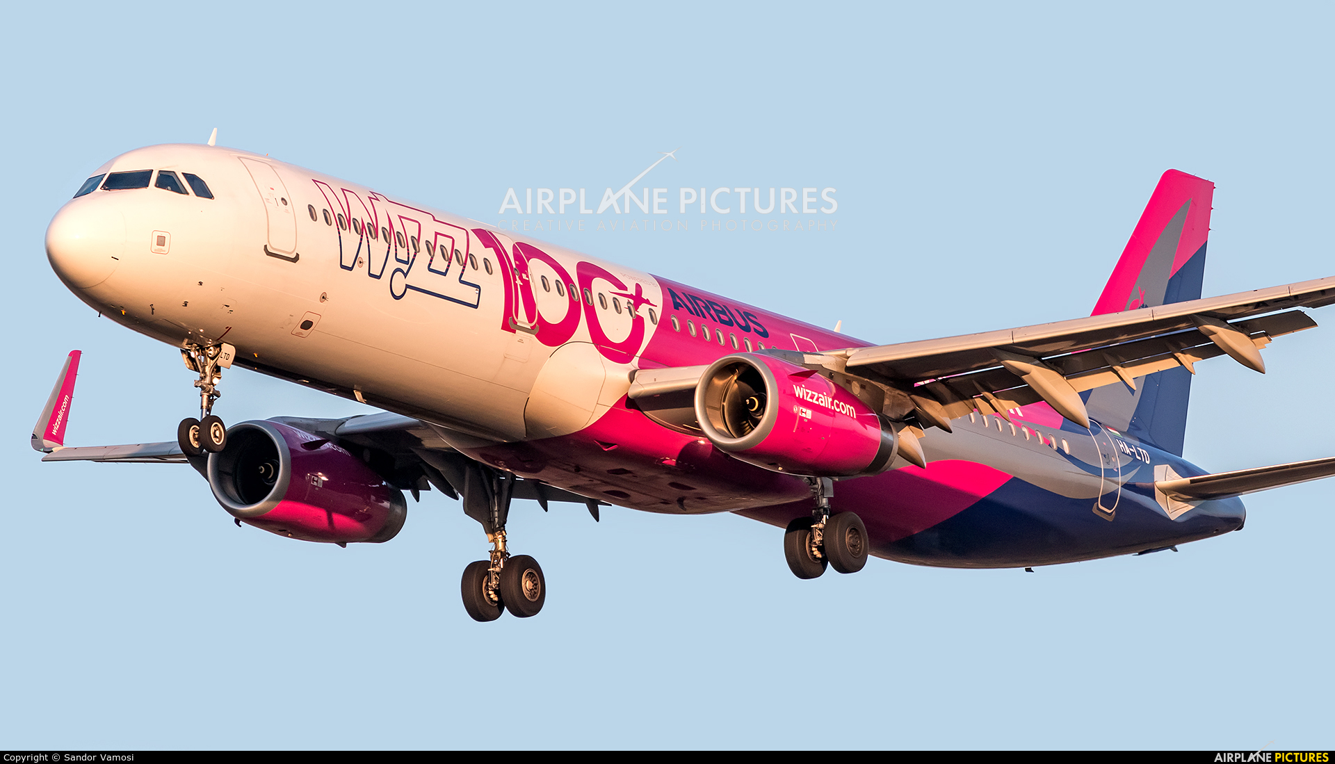 Wizz Air HA-LTD aircraft at Budapest Ferenc Liszt International Airport