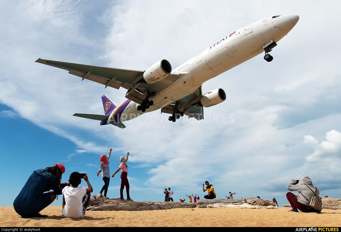 Thai Airways HS-TJU aircraft at Phuket