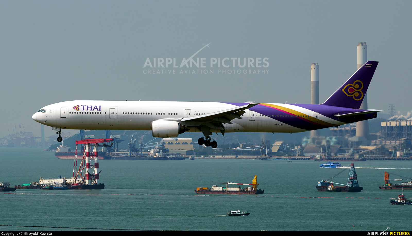 Thai Airways HS-TKF aircraft at HKG - Chek Lap Kok Intl