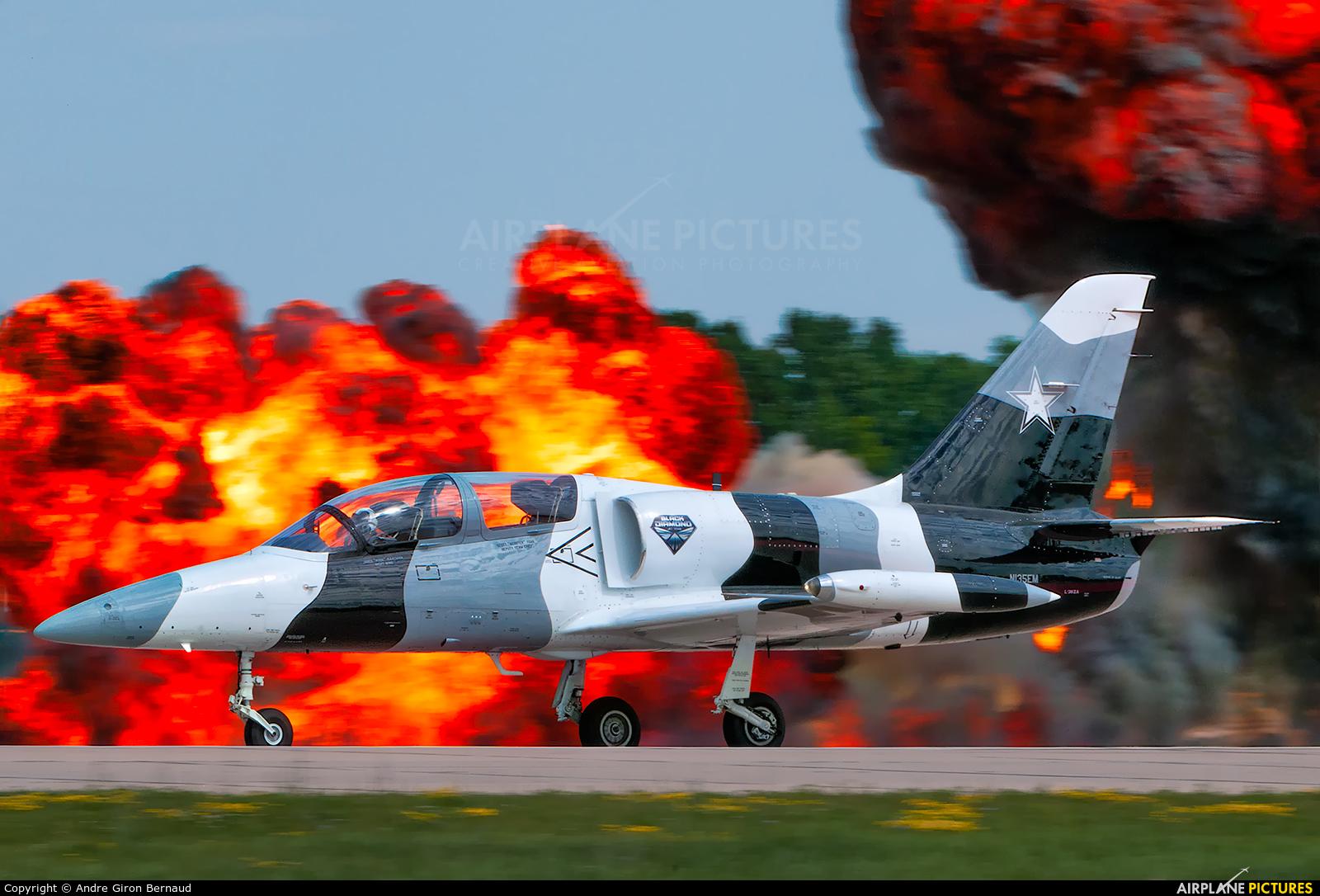 Black Diamond Jet Team N135EM aircraft at Oshkosh - Wittman Regional