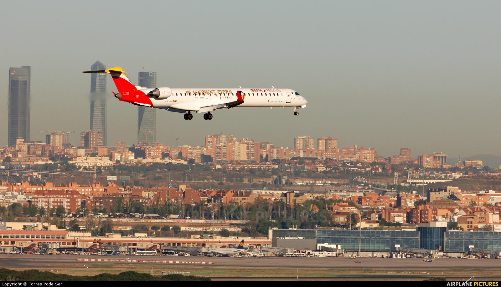 Air Nostrum - Iberia Regional EC-MXA aircraft at Madrid - Barajas