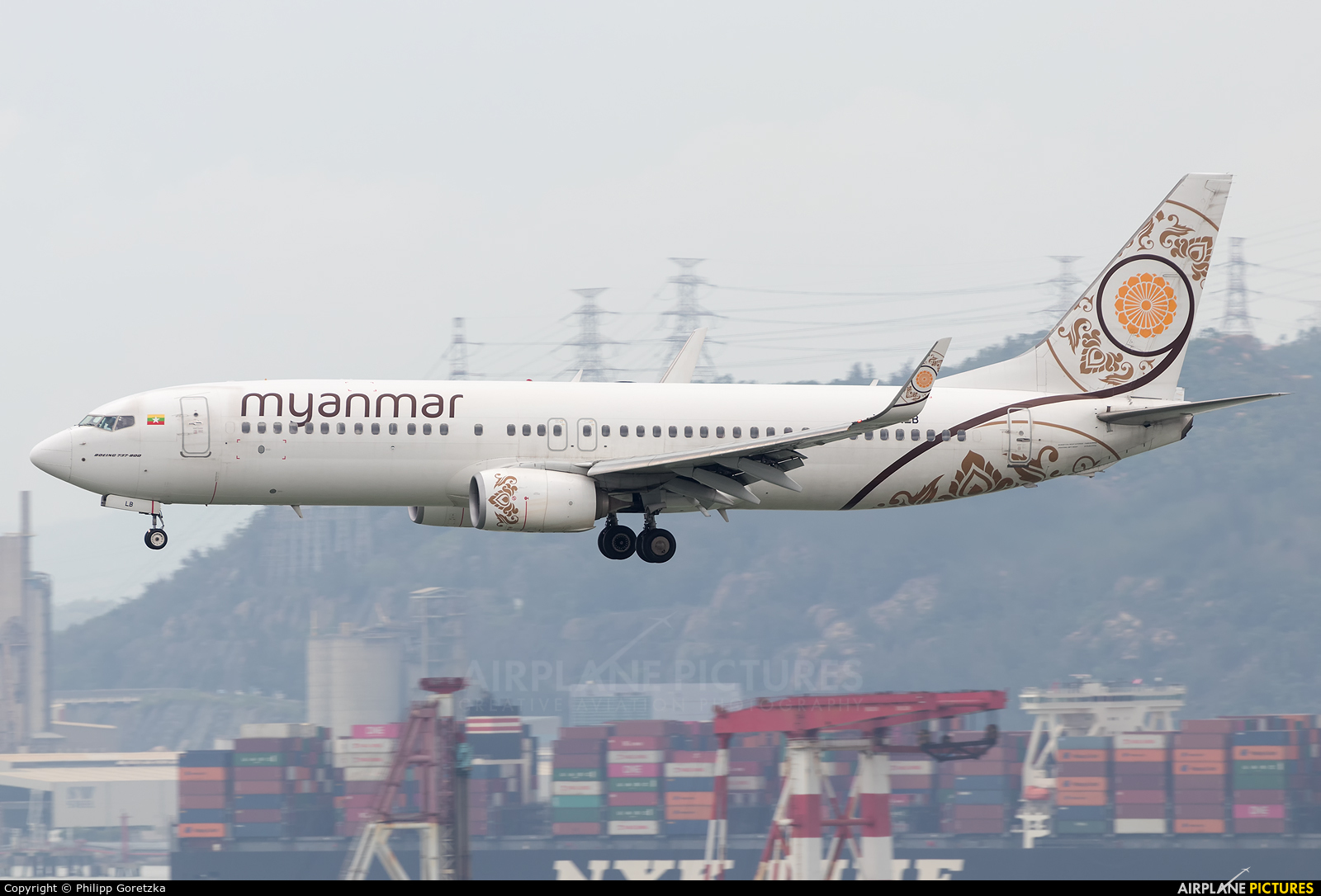 Myanma Airways XY-ALB aircraft at HKG - Chek Lap Kok Intl