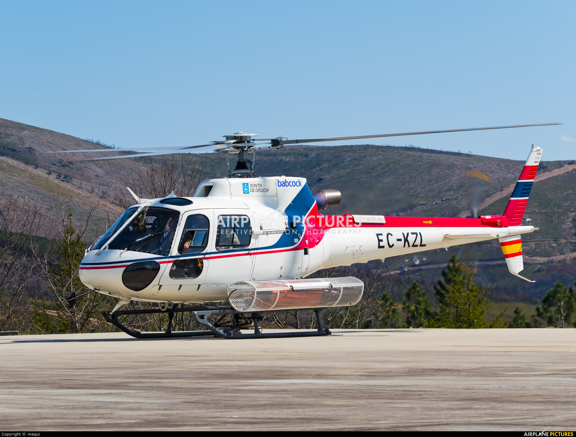 INAER EC-KZL aircraft at Ourense - Base de Vilarmaior