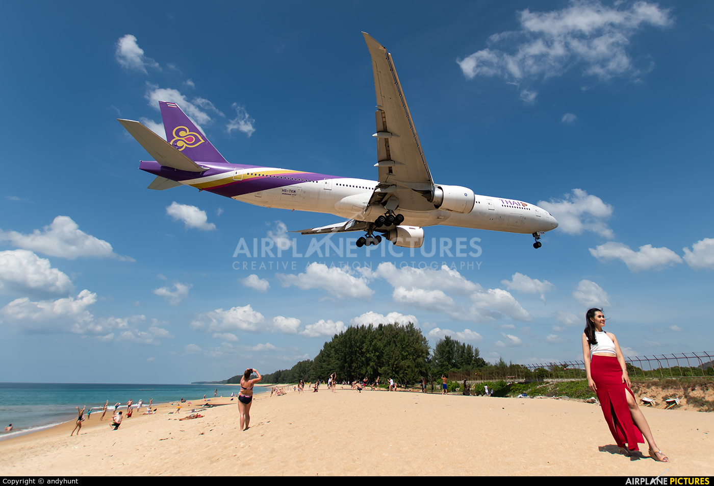 Thai Airways HS-TKM aircraft at Phuket