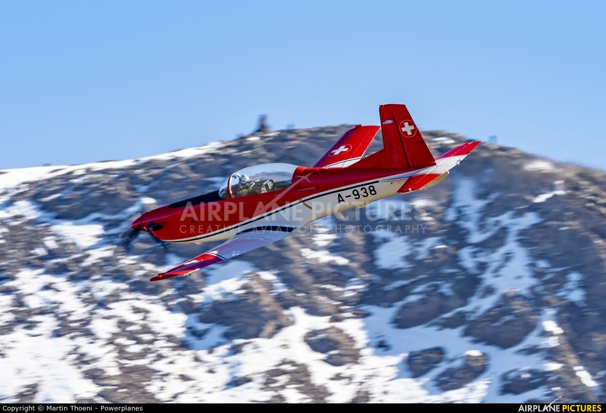 Switzerland - Air Force A-938 aircraft at Axalp - Ebenfluh Range