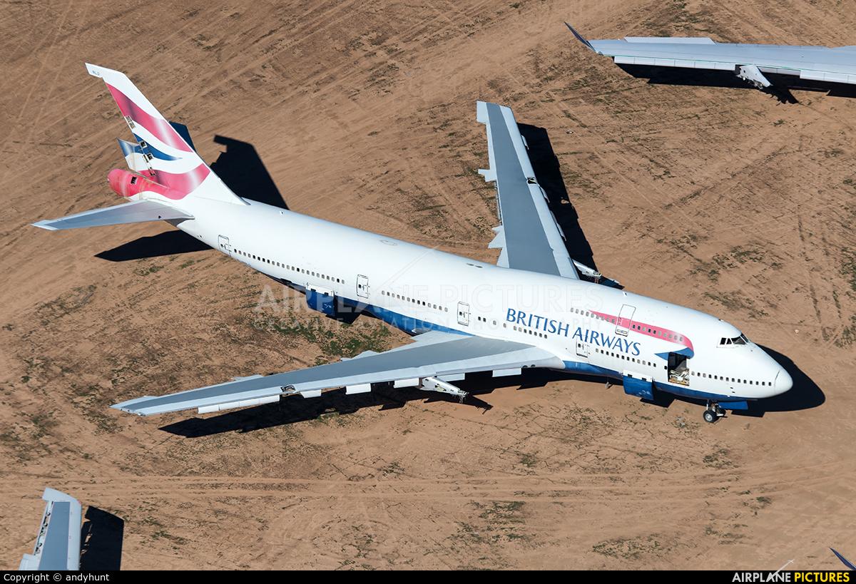 British Airways G-BNLD aircraft at Victorville - Southern California Logistics