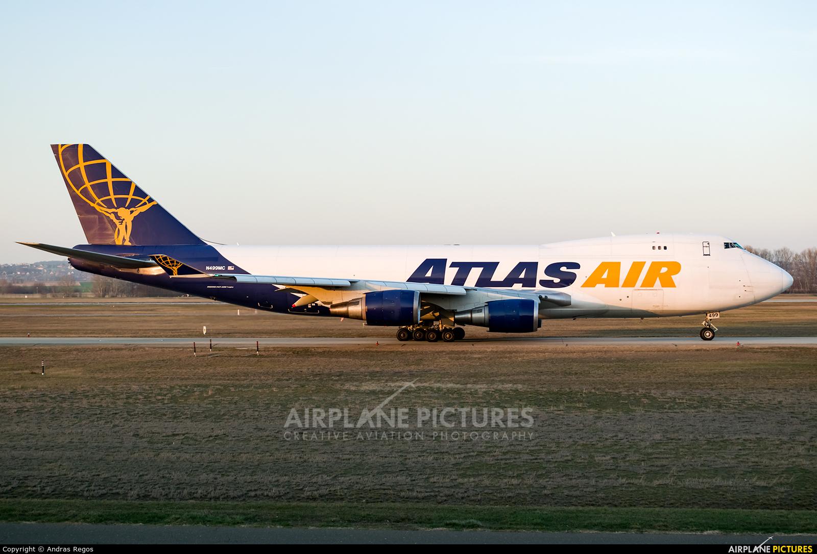 Atlas Air N499MC aircraft at Budapest Ferenc Liszt International Airport