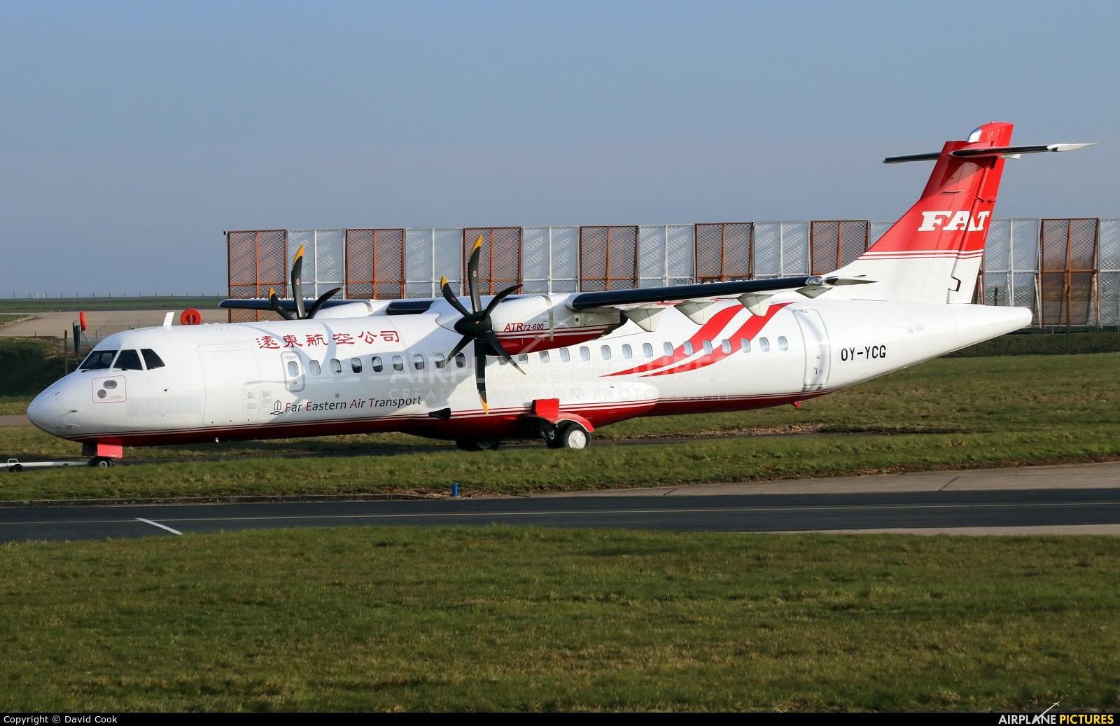 Far Eastern Air Transport OY-YCG aircraft at East Midlands