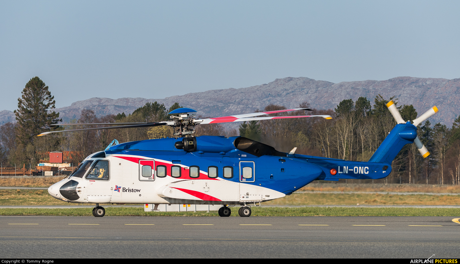 Bristow Norway LN-ONC aircraft at Bergen - Flesland