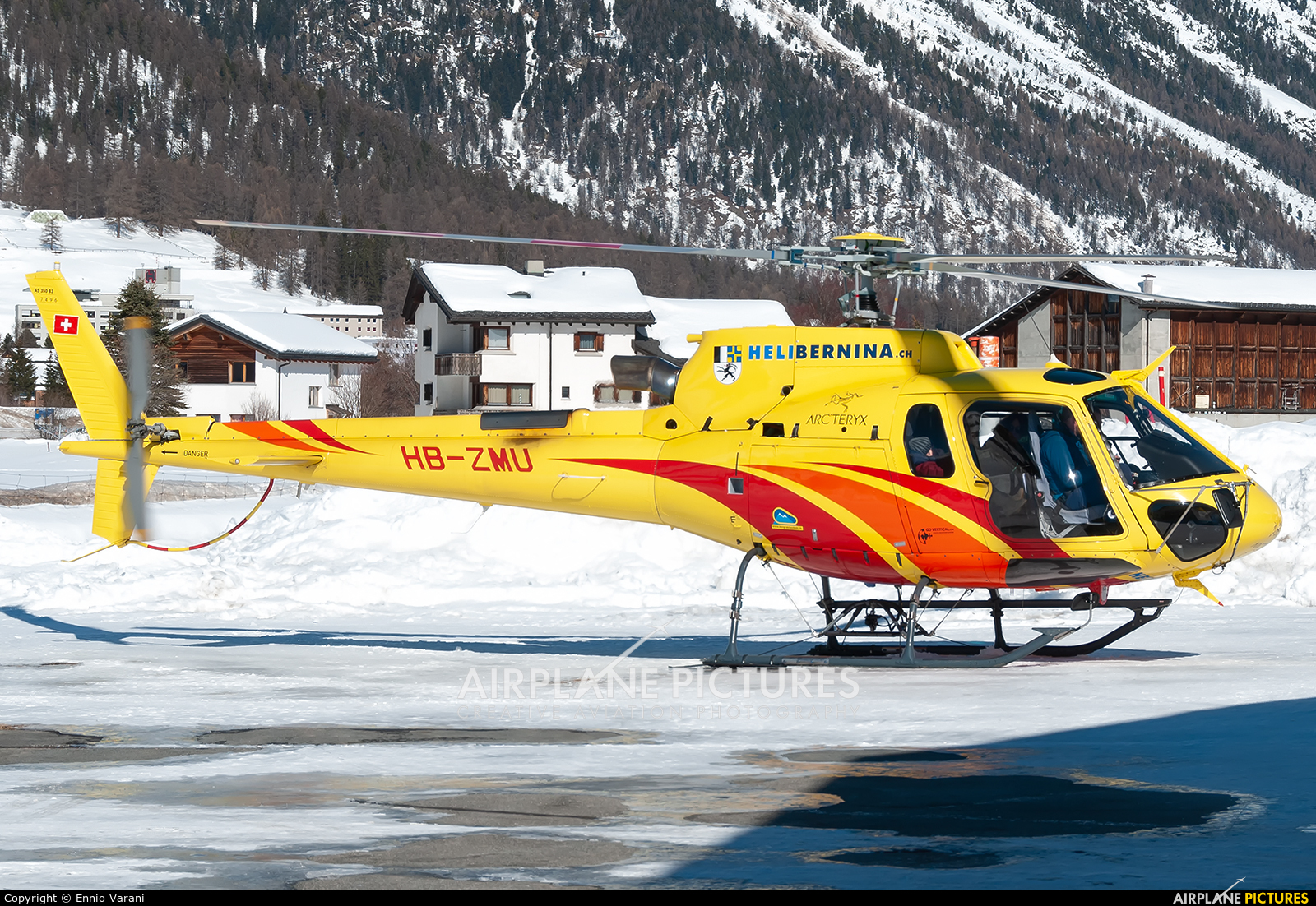 Heli Bernina HB-ZMU aircraft at Samedan - Engadin