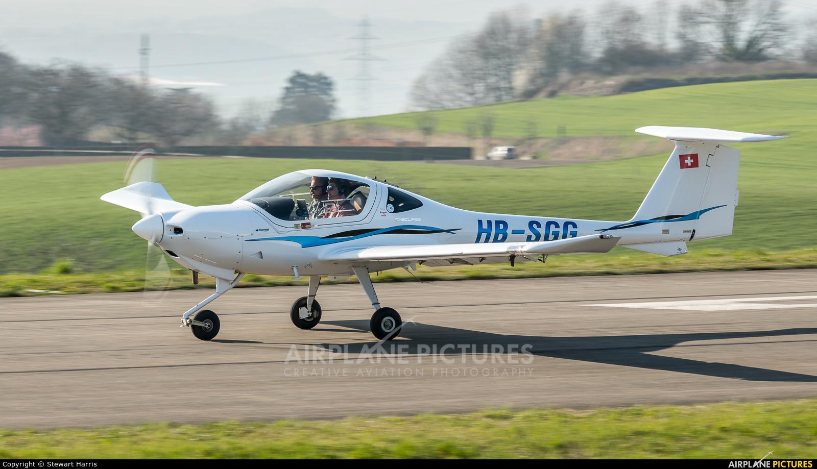 Private HB-SGG aircraft at Lausanne - La Blécherette