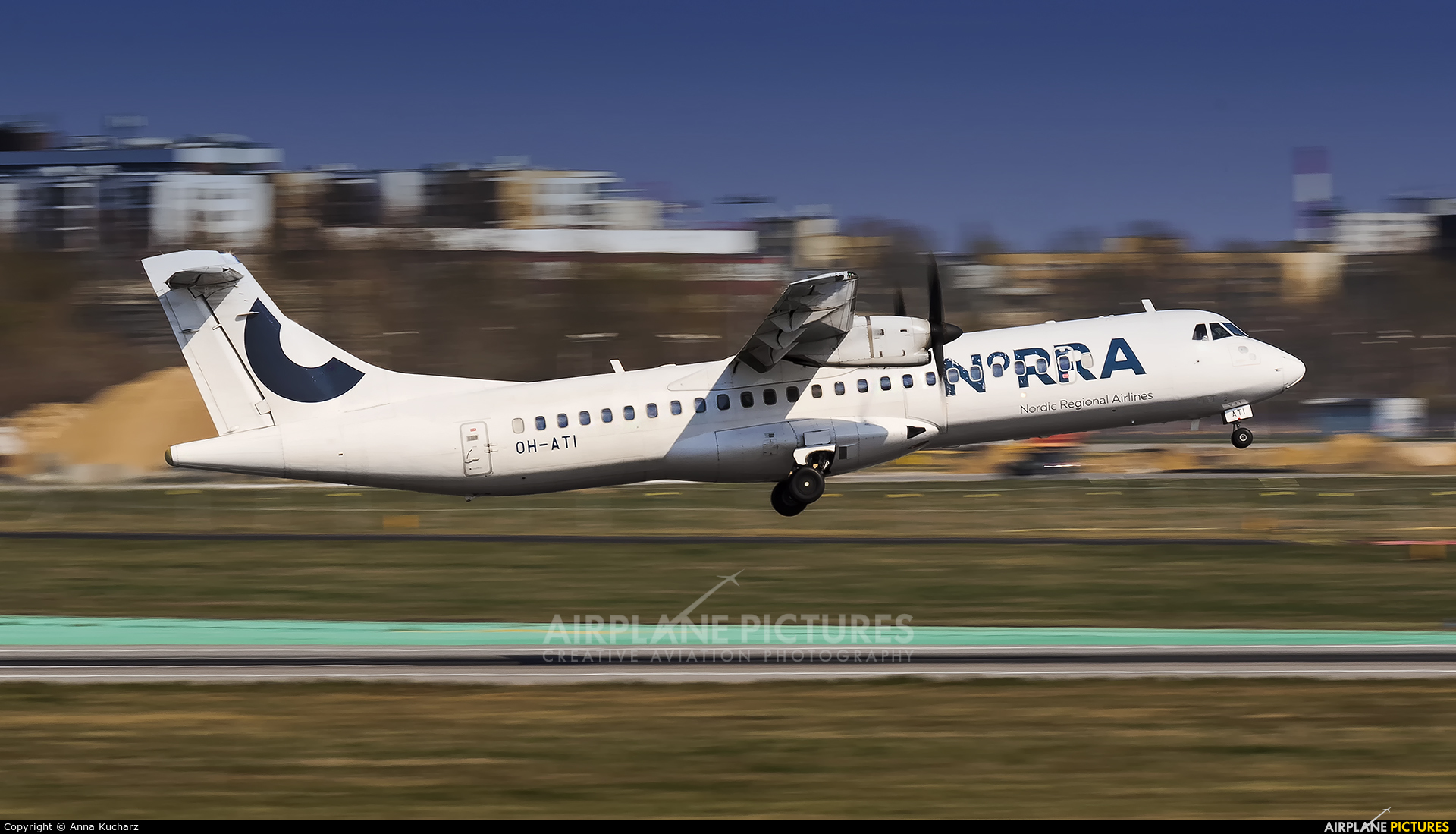 NoRRA - Nordic Regional Airlines OH-ATI aircraft at Warsaw - Frederic Chopin
