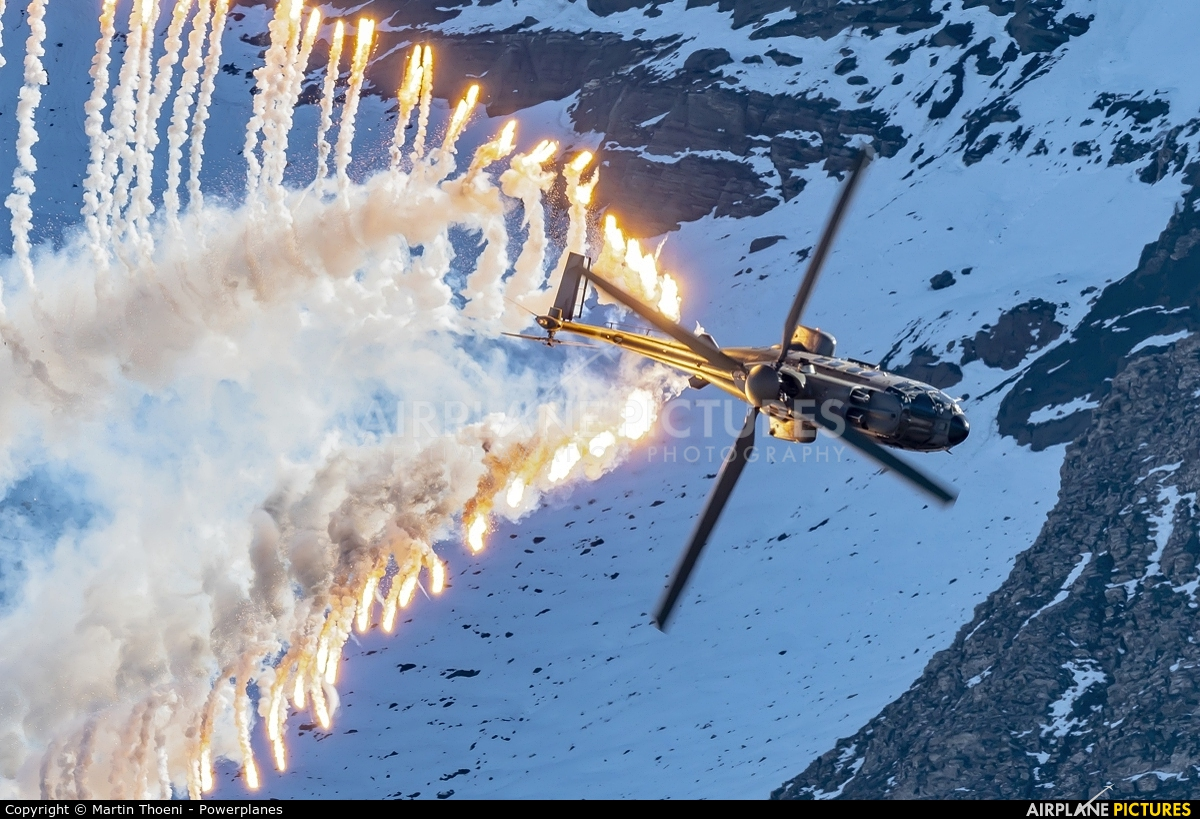 Switzerland - Air Force T-340 aircraft at Axalp - Ebenfluh Range