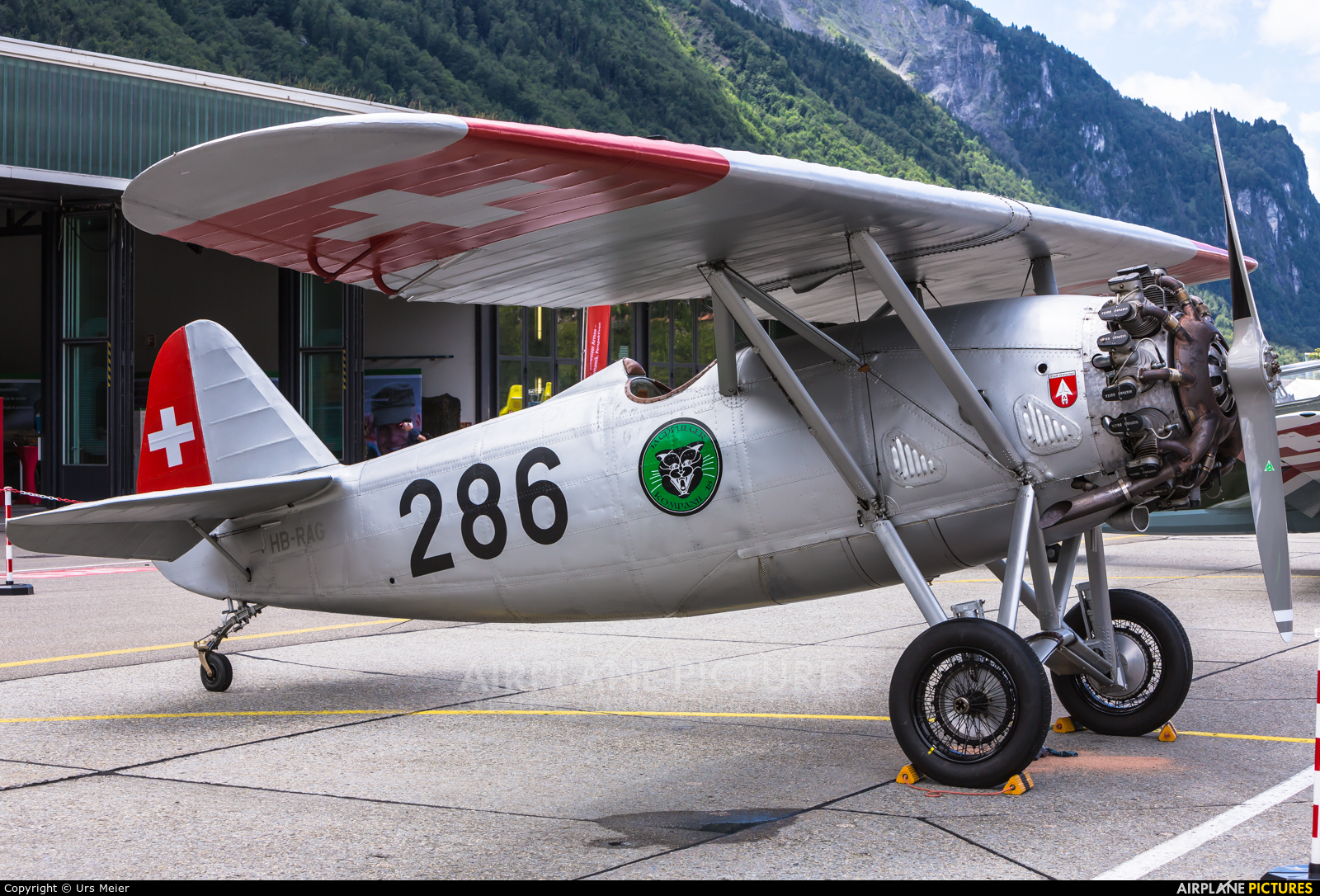 Private HB-RAG aircraft at Meiringen
