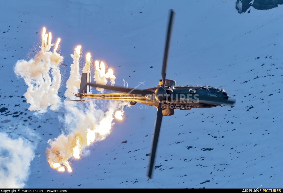 Switzerland - Air Force T-340 aircraft at Axalp - Ebenfluh Range