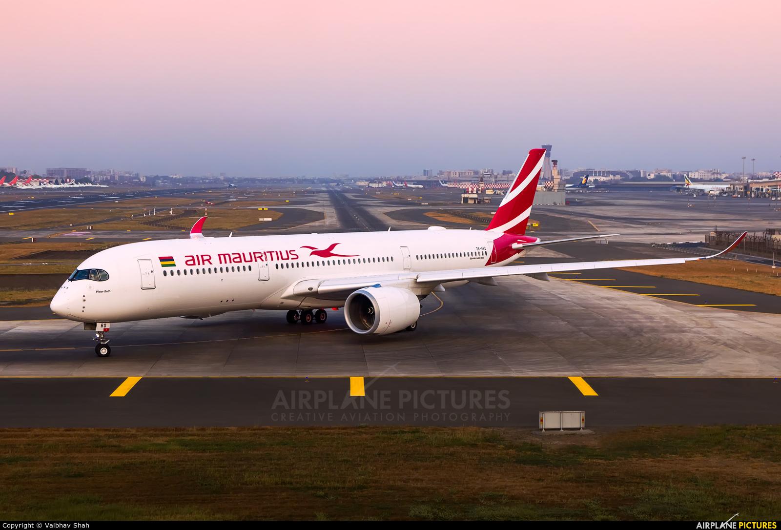 Air Mauritius 3B-NBQ aircraft at Mumbai - Chhatrapati Shivaji Intl