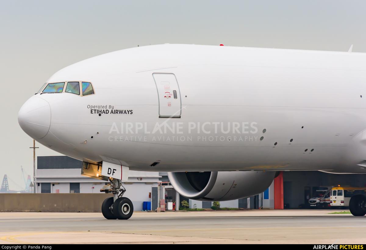Etihad Cargo A6-DDF aircraft at HKG - Chek Lap Kok Intl