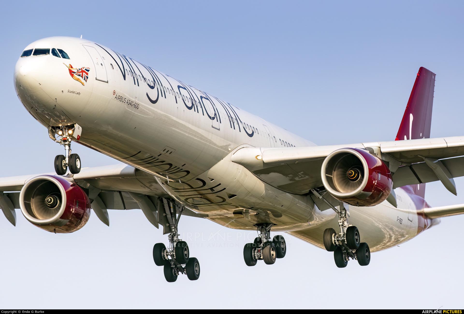 Virgin Atlantic G-VRED aircraft at London - Heathrow