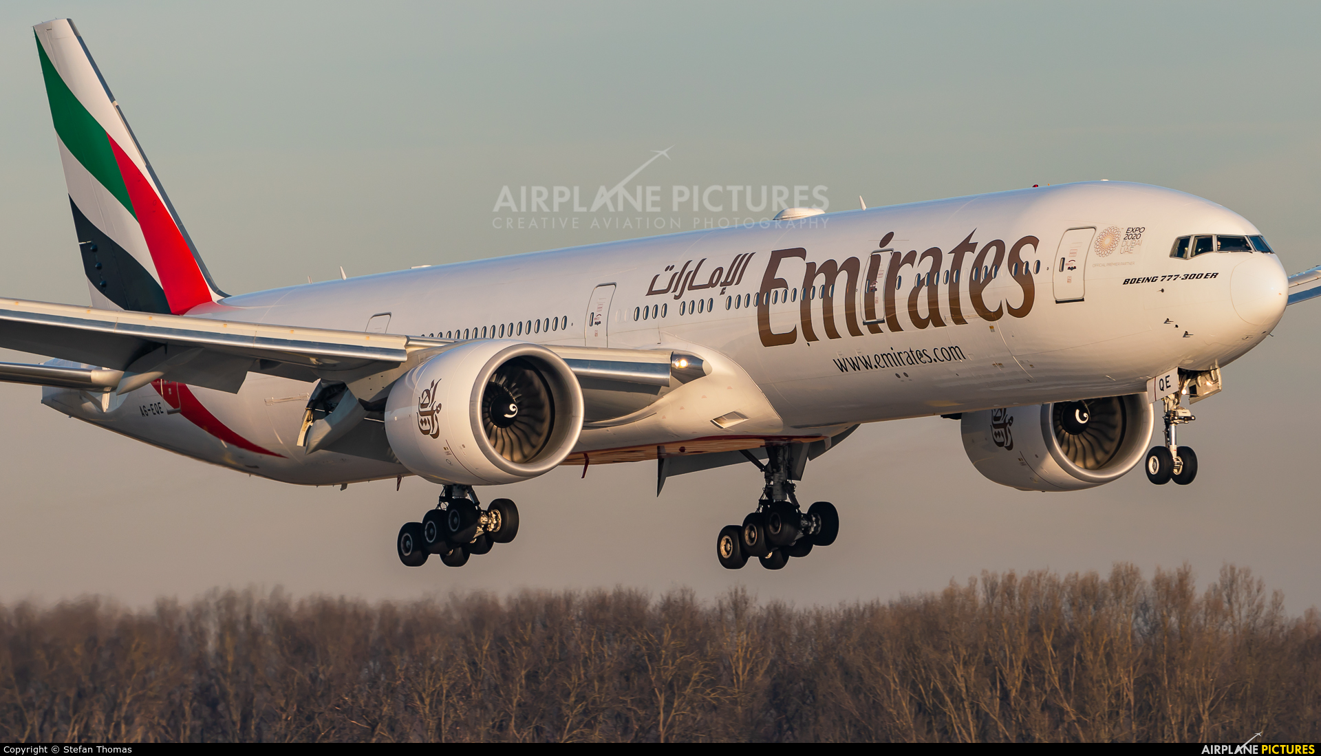 Emirates Airlines A6-EQE aircraft at Munich