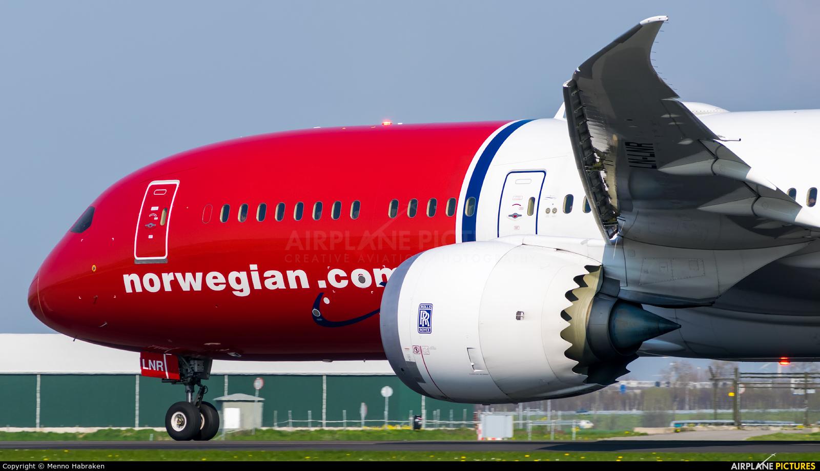 Norwegian Long Haul LN-LNR aircraft at Amsterdam - Schiphol