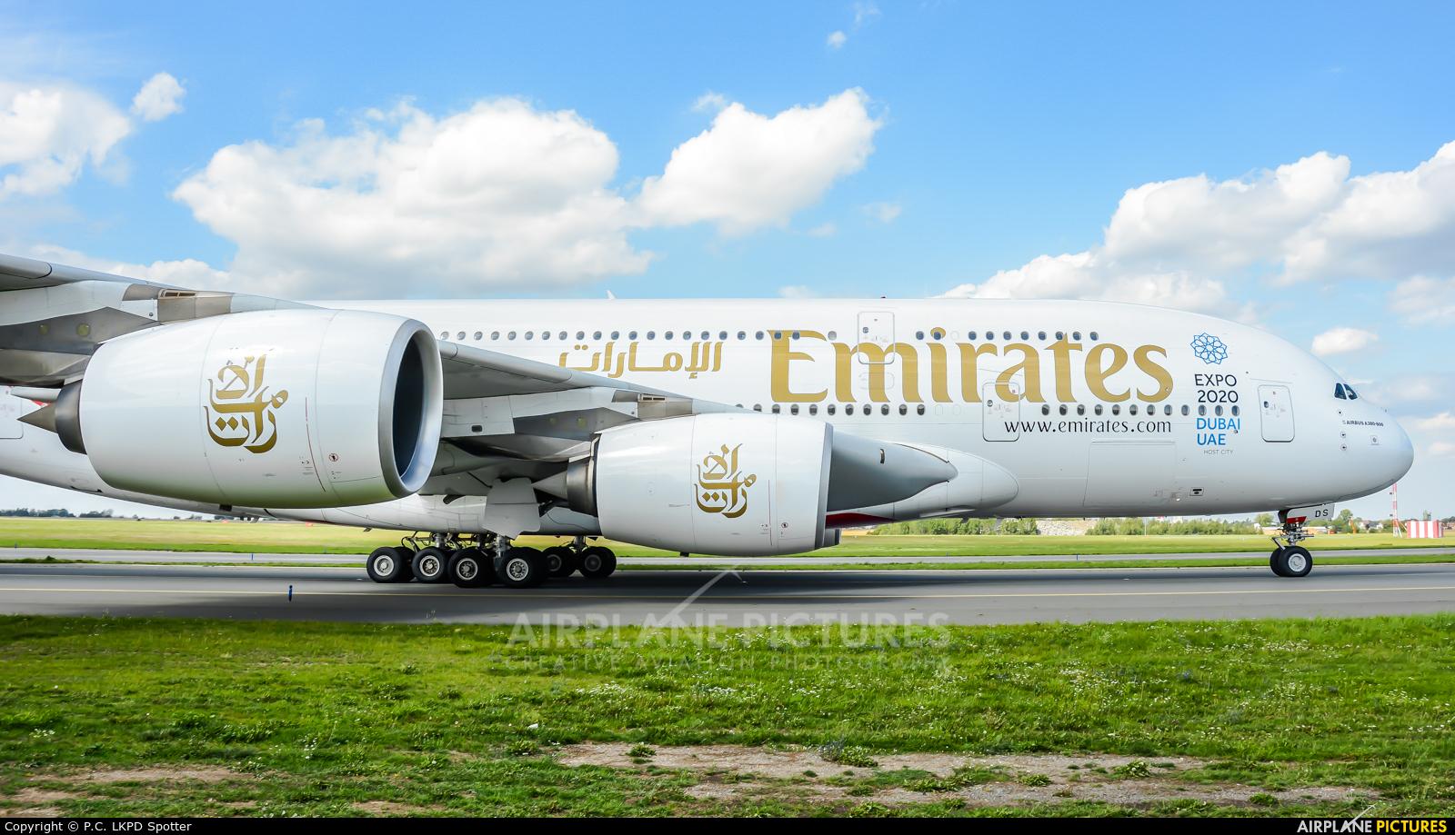 Emirates Airlines A6-EDS aircraft at Prague - Václav Havel