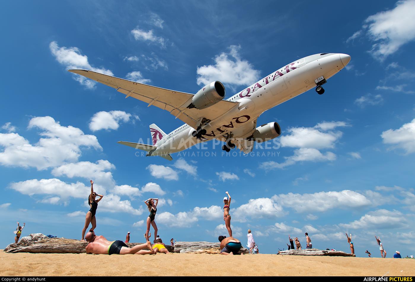 Qatar Airways A7-BCL aircraft at Phuket