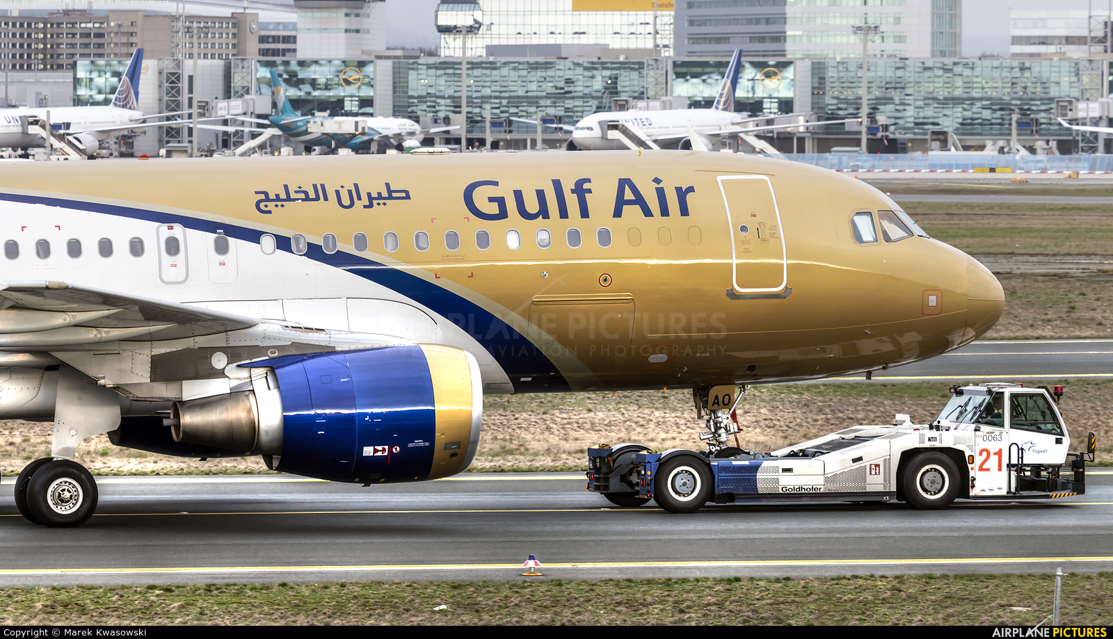 Gulf Air A9C-AO aircraft at Frankfurt