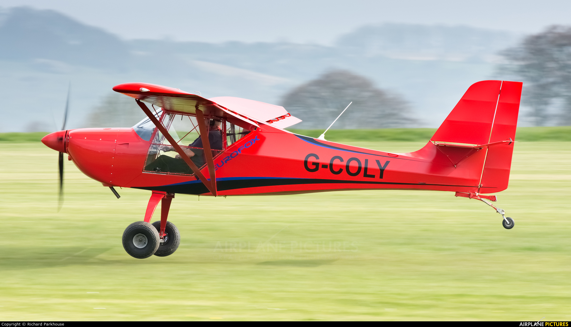 Private G-COLY aircraft at Old Sarum