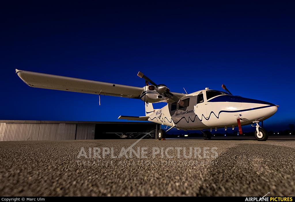 Swiss Flight Services HB-LUN aircraft at Augsburg