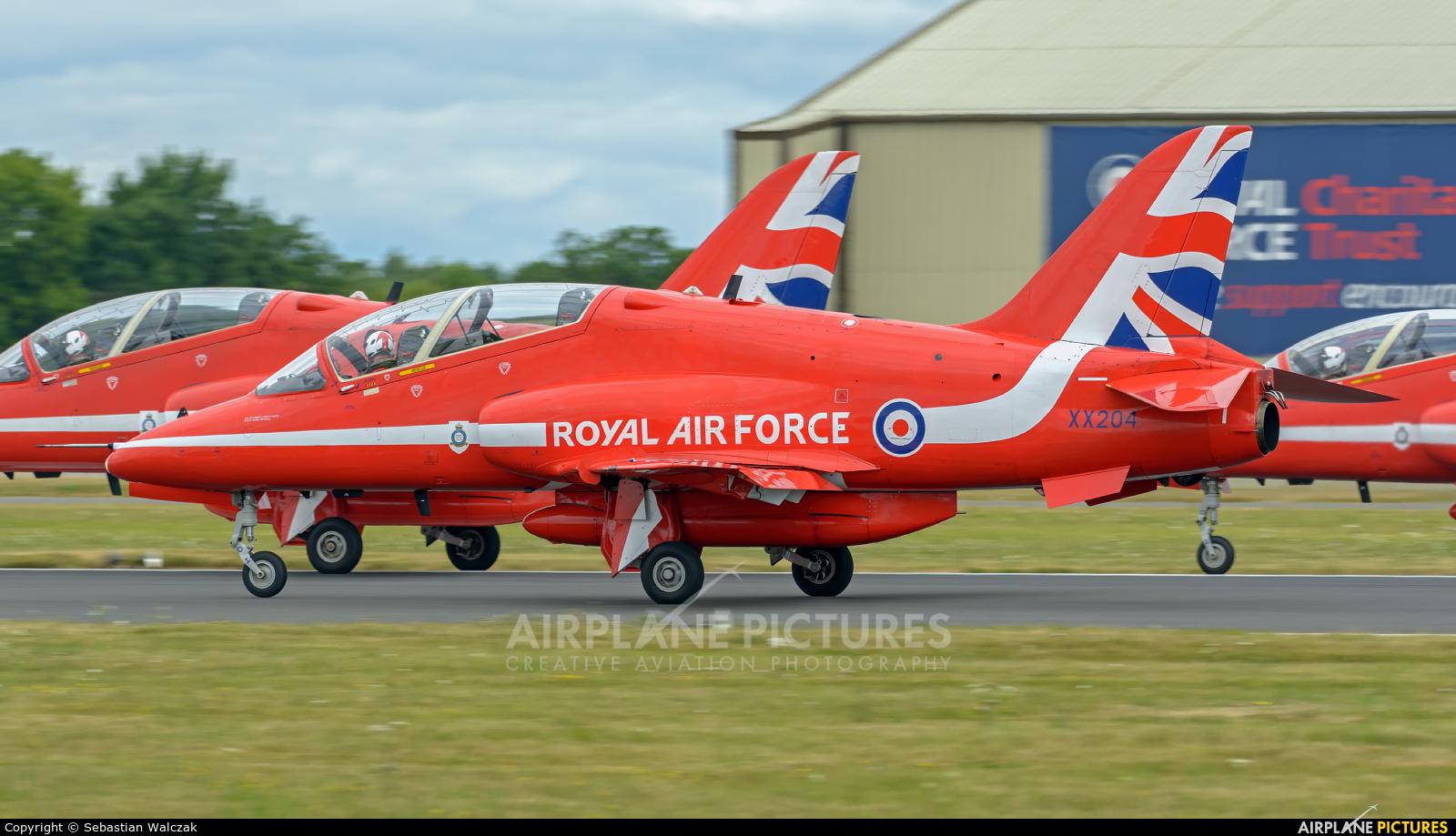 "Royal Air Force ""Red Arrows"" XX204 aircraft at Fairford"