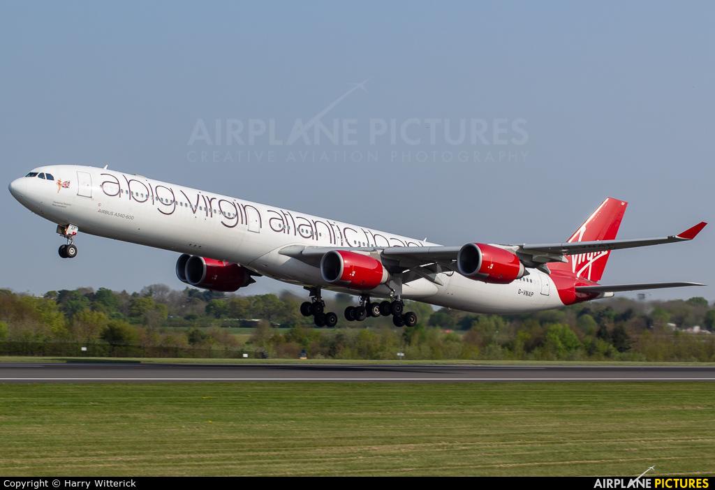 Virgin Atlantic G-VNAP aircraft at Manchester