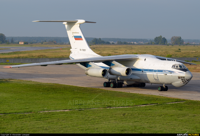 Russia - Air Force RA-76551 aircraft at Novosibirsk