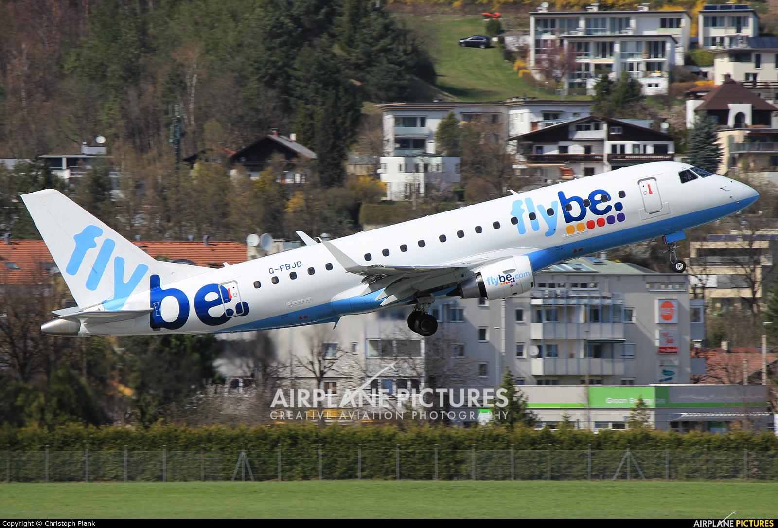 Flybe G-FBJD aircraft at Innsbruck
