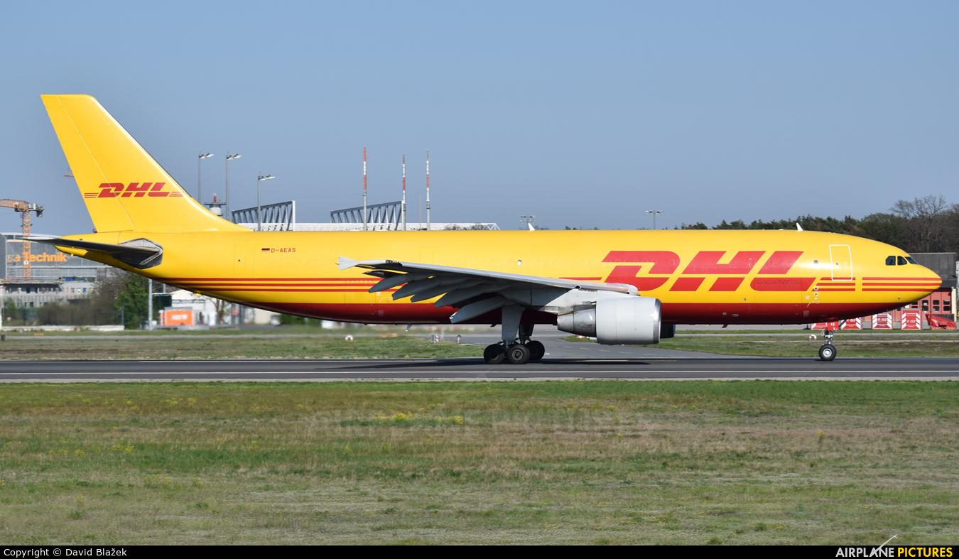DHL Cargo D-AEAS aircraft at Frankfurt