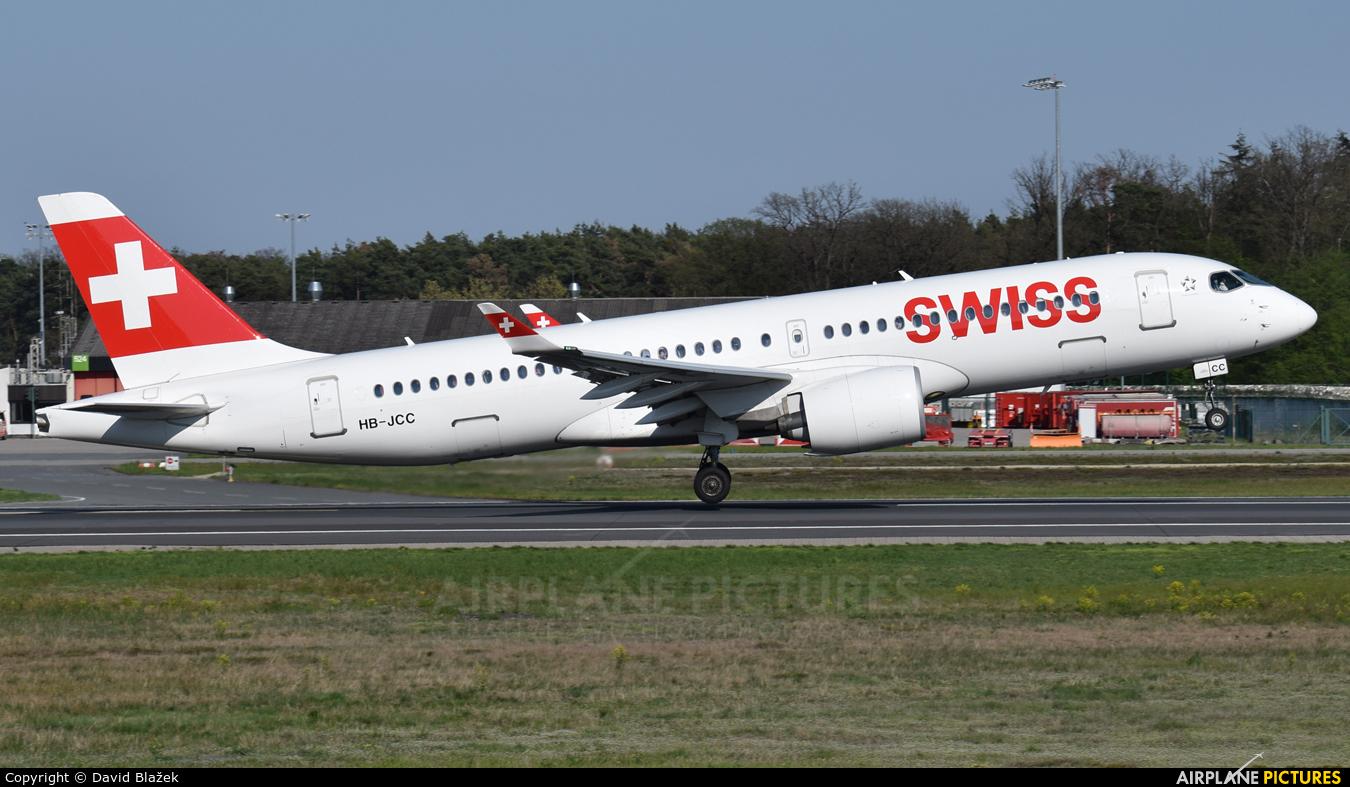 Swiss HB-JCC aircraft at Frankfurt