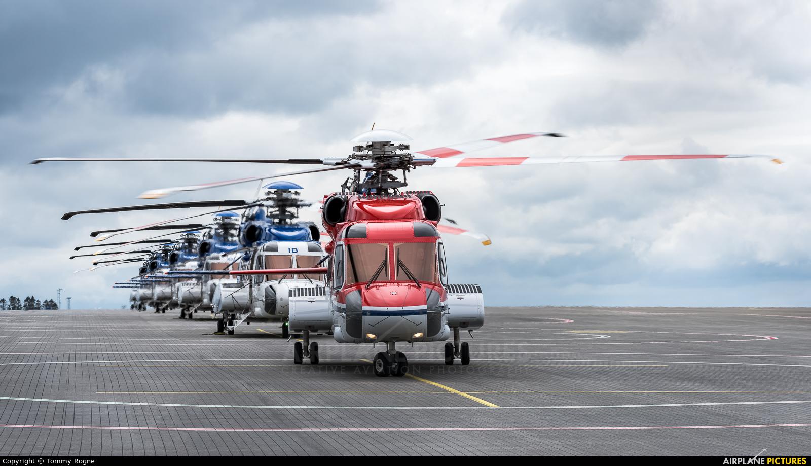 CHC Norway LN-OQM aircraft at Bergen - Flesland