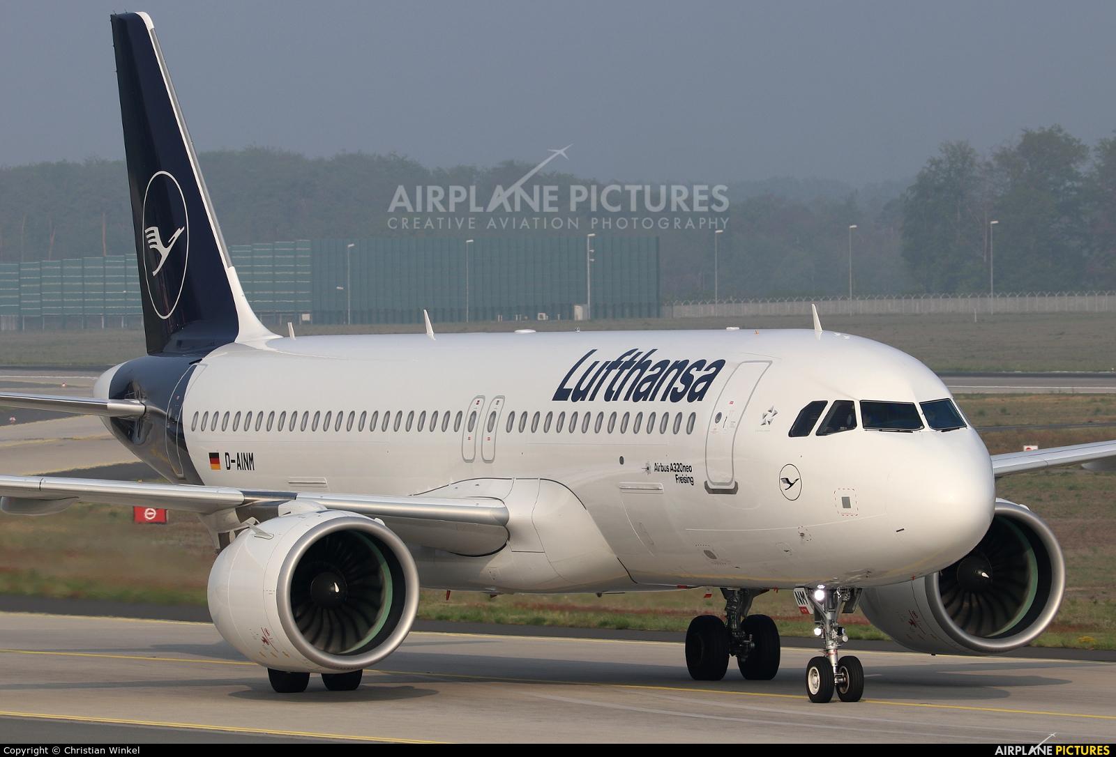 Lufthansa D-AINM aircraft at Frankfurt
