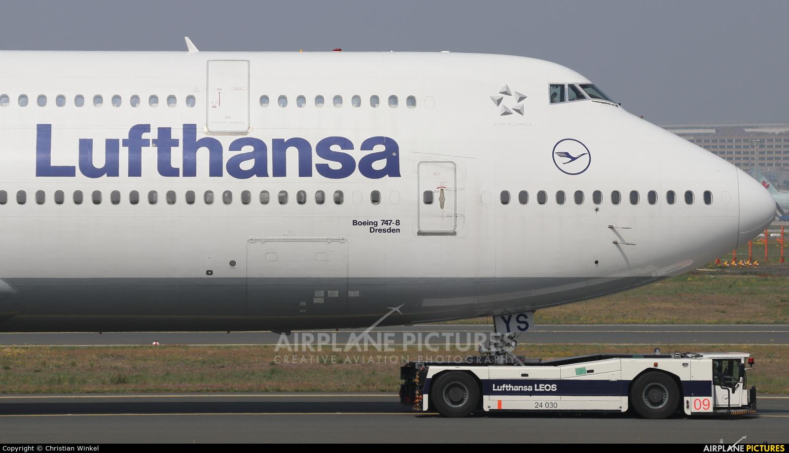 Lufthansa D-ABYS aircraft at Frankfurt