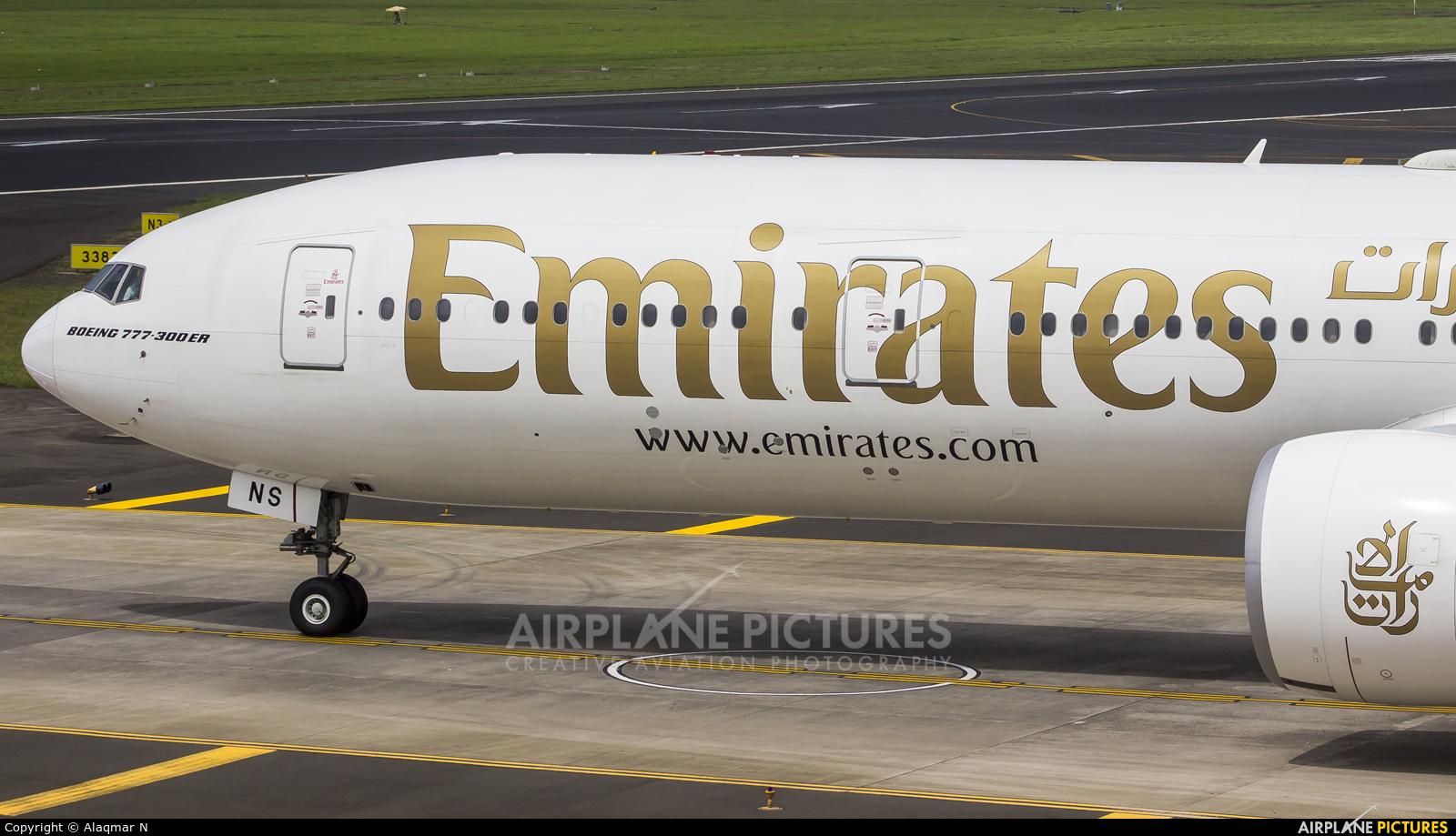 Emirates Airlines A6-ENS aircraft at Mumbai - Chhatrapati Shivaji Intl
