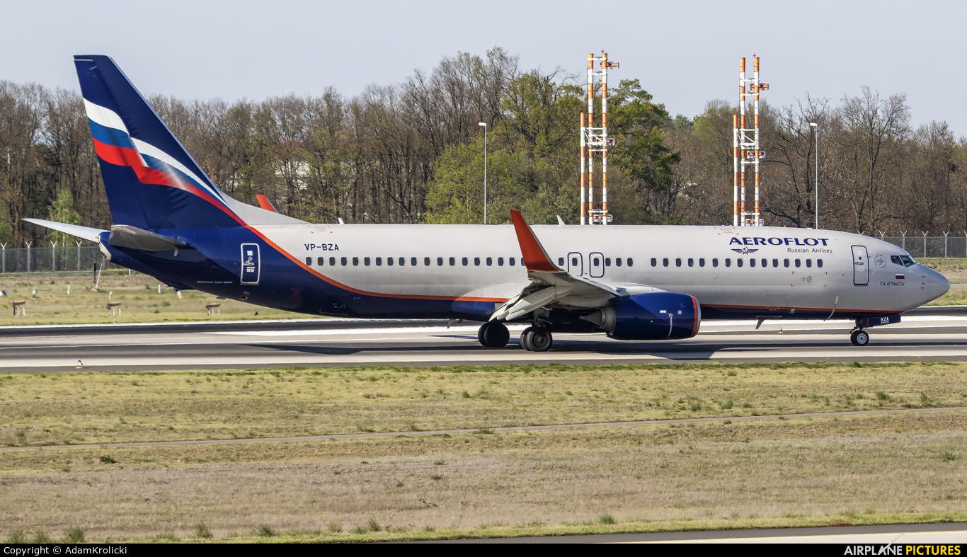 Aeroflot VP-BZA aircraft at Frankfurt