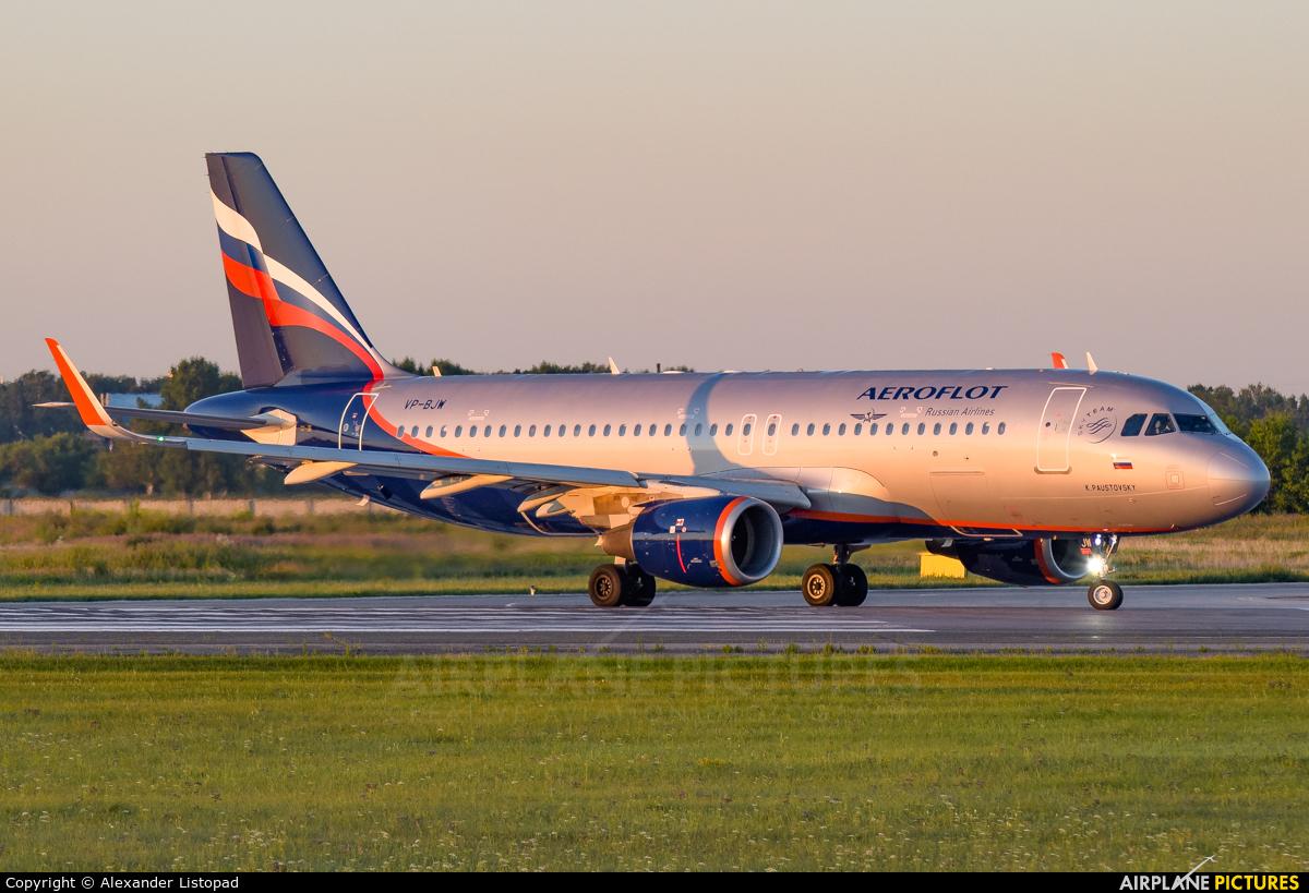 Aeroflot VP-BJW aircraft at Novosibirsk